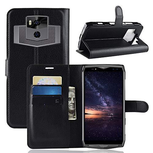 Fertuo Ulefone Power 5 Hülle, Handyhülle Leder Flip Case Tasche mit Standfunktion, Kartenfach, Magnetschnalle, Silikon Bumper Bookstyle Schutzhülle Wallet Cover für Ulefone Power 5, Schwarz
