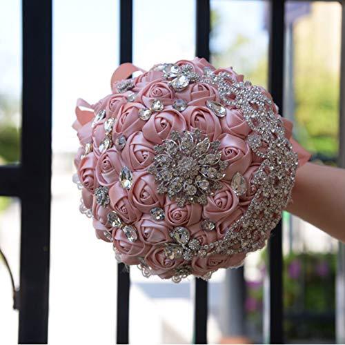 WSJS Braut Bouquet Hochzeits-Bouquets Babypple künstliche Fake Rose Blume Pure Handmade Blume Bridesmaid Bouquets Party Home Decoration (Fake 6 Pack Kostüm)