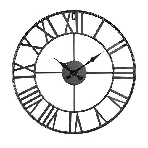 Reloj de pared de metal estilo vintage - diámetro 40 cm.