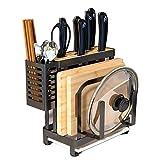 RUI 304 in Acciaio Inox Cucina fornello Tagliere Piastra asciugatrice stoccaggio Multifunzionale di stoccaggio a Due Colori 26 * 13 * 24 cm