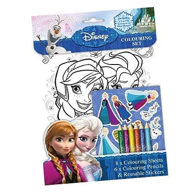 Disney Frozen - Set 8 láminas para colorear, stick, lápices, 28 x 20 cm (Kids FNCST) de Kids