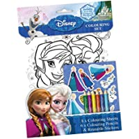 Disney Frozen - Set 8 láminas para colorear, stick, lápices, 28 x 20