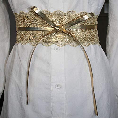 DYCHUN Damen Kleid Gürtel Mode Luxusmarke Designer Gürtel Elastische Spitze Schwarz Gürtel Für Frauen Kleid Gürtel Jeans Gürtel Weibliche Hochzeitskleid Bund - Designer Braut Kleider