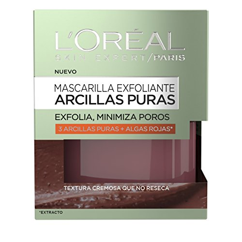 L'Oréal Paris Arcillas Puras Mascarilla Facial Exfoliante Roja - 50 ml