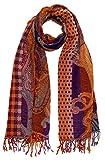 Lorenzo Cana - Luxus Herren Schal Schaltuch aus weicher Wolle Paisley Muster bunt mehrfarbig 70 cm x 190 cm Wollschal Wolltuch Stola Umschlagtuch Maennerschal 7819511