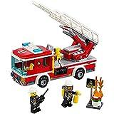 YZWJ Kreative Stadt Feuerleiter Auto Kinder Kunststoff Bausteine Spielzeug Modell Puzzle Stück Bausatz Geschenk