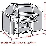 BBQ cover Housse pour Barbecue 145x65x115cm Jardin Patio wagon Grill à gaz Housse protection Pluie Contre Poussière UV, Anti-UV/Anti-l'eau/Anti-l'humidité