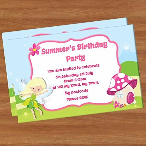 10personalisierte Party Geburtstag Einladungen A6glänzend PI12Feen wie Tinkerbell Fee