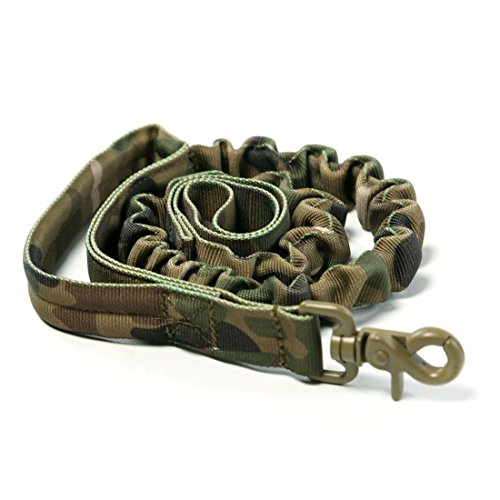 Yisibo-Dog-Leash-Tactical-Bungee-Leash-with-Control-Handle-Quick-Release-Nylon-Leads-Rope-Military-Outdoor-Camping-Hiking-Improved-Dog-Safety-ComfortCamouflage-Pattern