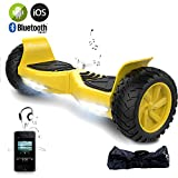 EVERCROSS Hoverboard Challenger Basic Monopattino Elettrico Autobilanciato, Balance Scooter Skateboard, con Due ruote 8.5 in, Bluetooth, APP e LED,Inclusa Batteria e Borsa,15Km/H (Giallo)