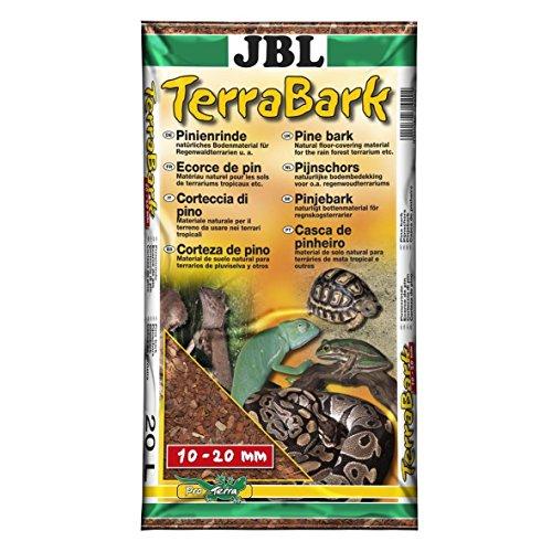 JBL TerraBark 71022 Bodensubstrat, für Wald und Regenwaldterrarien, Pinienrinde, 10 - 20 mm, 20 l