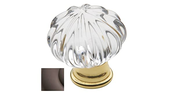 Baldwin 4327112 Crystal Cabinet Knob in Aged Bronze