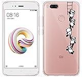 Coque Pour Xiaomi Mi 5X / Xiaomi Mi A1, Sunrive Silicone Étui Housse Protecteur souple TPU Gel transparent Back Case(tpu Panda 1)+ STYLET OFFERTS