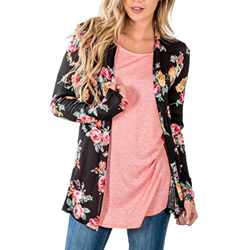 Malloom® Feitong Frauen Boho Print Blumen Loose Schal Kimono Strickjacke Top Cover bis Bluse (Cowgirl Tanz Kostüm)