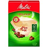 Genuine Original Melitta 102 Coffee Machine Brown Paper Filters (1, 2, 3 or 4 Packs of 80)