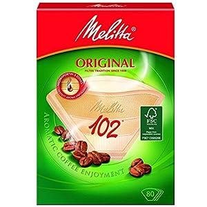 Genuine Original Melitta 102 Coffee Machine Brown Paper Filters (1, 2, 3 or 4 Packs of 80)