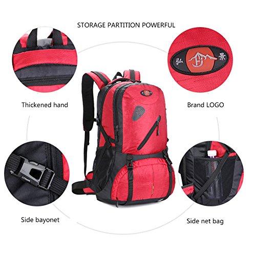 Freizeit Sport Business Computer Tasche Rucksack atmungsaktiv Oxford Tuch Rucksack für Outdoor, Bergsteigen Rot