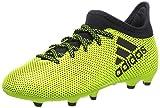 adidas Jungen X 17.3 Fg J Fußballschuhe, Weiß, Mehrfarbig (Solar Yellow/legend Ink F17/legend Ink F17), 35 EU