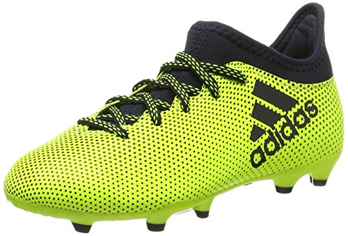 adidas X 17.3 FG J, Zapatillas de Fútbol para Niñas, (Solar Yellow/Legend Ink/Legend Ink), 36 EU