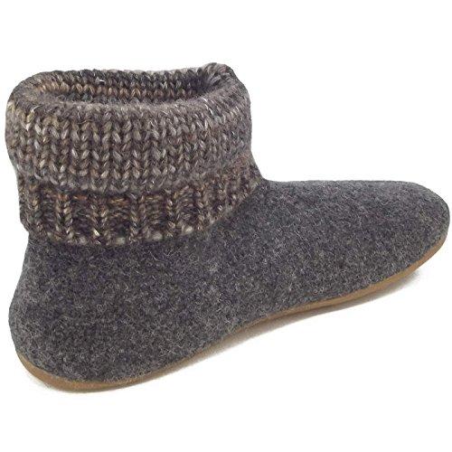 Karlos Haflinger Slipper Boot Grigio
