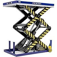 Disset Odiseo MSA1455 Mesas Elevadoras de Doble y Triple Tijera Vertical, Azul Ultramar, 35-45 Tiempo Elevación, 1300 mm x 850 mm x 360 mm/1780 mm