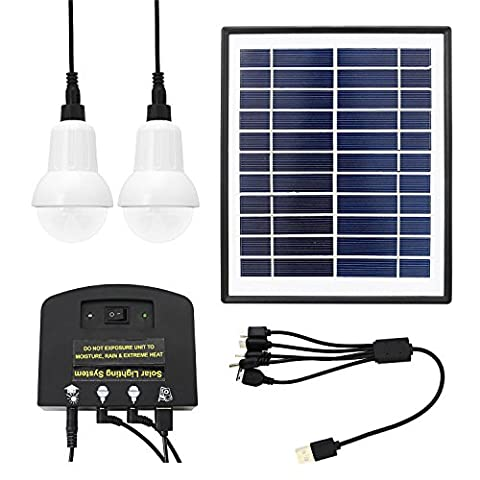Solalite® Portable Solar Mobile Lighting System Light Lamp USB 5V Cell Mobile Phone Charger Home Emergency Lights Power Pack for Indoor and Outdoor Garden Shed Camping Lanterns Tent Lighting