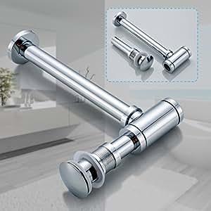 1 set siphon pop up ablaufventil mit berlauf push up ablaufgarnitur st psel abfluss ventil. Black Bedroom Furniture Sets. Home Design Ideas