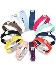 GinCoband 12piezas Fitbit Alta Bandas HR con cierres para Fitbit Alta y Fitbit Alta HR pulsera deporte banda de brazo Sin rastreador