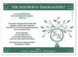 Danksagungskarten zur Konfirmation Mädchen u. Jungs - Text kann geändert werden, 10 Stück, Größe 17 x 12 cm