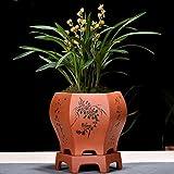 Argilla Viola Vaso di Fiori Boutique Bacino di Orchid Coperta Tavolo Bacino di pianta Clivia Asparago Rivestimento Ceramica Vaso di Fiori-A