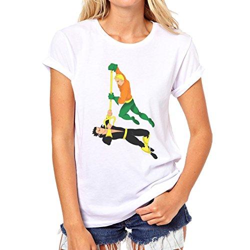 Aquaman Vs Namor Fight Super Hero Comics Damen T-Shirt Weiß