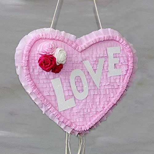 Herz Pinata LOVE mit Zugbändern
