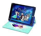 Disney Lexibook MFP100FZ - Cover Universale Frozen per Tablet 7'-10', Design Elsa/Anna, Silicone, Blu/Viola