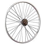 Taylor-Wheels 28 Zoll Hinterrad YAK19 mit 6fach Shimano Schraubkranz - Silber