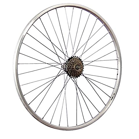 Taylor Wheels 28 Zoll Hinterrad YAK19 mit 6fach Shimano Schraubkranz - silber