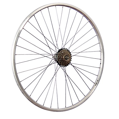 Taylor-Wheels 28 Zoll Hinterrad YAK19 mit 6fach Shimano Schraubkranz - Silber (Laufrad 24)