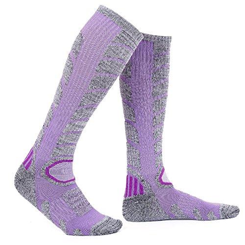 Diealles Calcetines para Mujer de Esquí para Esquiar, Ir de Excursión (M 35-39) - Púrpura
