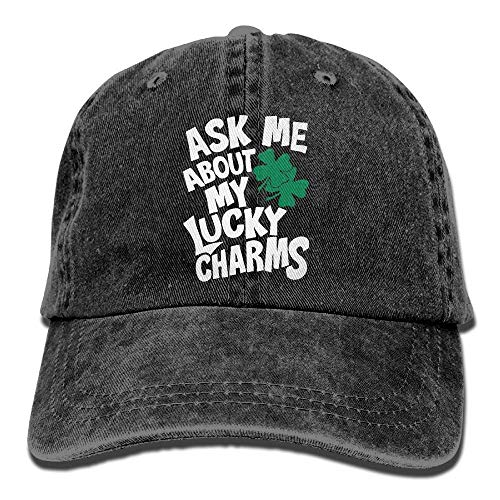Preisvergleich Produktbild Men and Women Ask Me About My Lucky Charms-1 Vintage Jeans Baseball Cap
