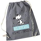 Snoopy Collection - Stoffrucksack Aus dem Weg. Ich muss Tanzen!, 34,5 x 45 cm