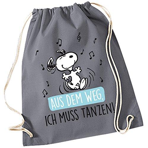 """Snoopy Collection - Stoffrucksack\""""Aus dem Weg. Ich muss Tanzen!\"""", 34,5 x 45 cm"""