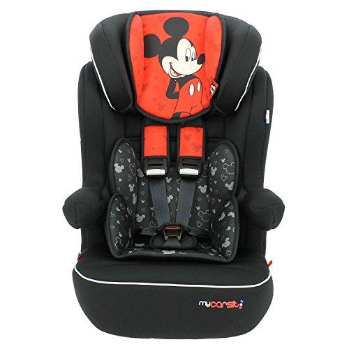 Mycarsit Siège Auto Disney, Groupe 1/2/3 (de 9 à36 kg), Motif Mickey