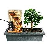 """Indoor-Bonsai mit Zimmer-Brunnen """"Buddha mit 4 Schalen"""" - beleuchtet - Easy Care System"""