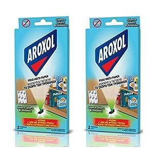 Aroxol Food Moth Papierfalle - Geruchlos - Bis zu 8 Wochen haltbar 2 Pack x 2