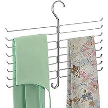 mDesign - Organizador de accesorios, para armario; organiza corbatas, bufandas, camisolas,