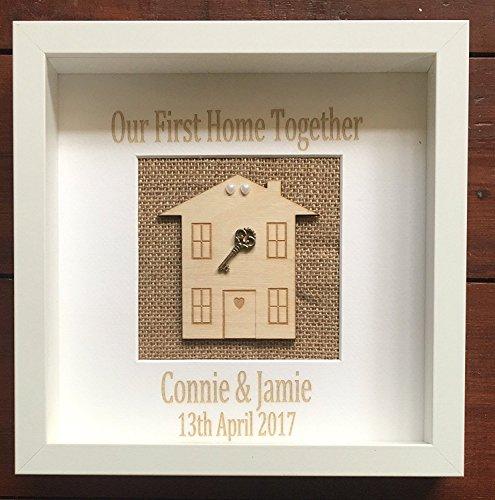 Acrylics Our First Home zusammen Key Frame Box-Custom Made & persönlicher New Home Geschenk