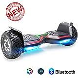 BEBK Hoverboard, 8.5 Zoll SUV Elektro Scooter, Self Balance Scooter mit Bluetooth Lautsprecher, LED Lights, Elektro Board E-Skateboard