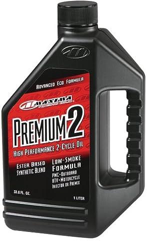 Maxima (21901) Premium 2 Smokeless 2-Stroke Premix/Injector Oil - 1 Liter
