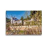 Calvendo Premium Lienzo 45 cm x 30 cm Horizontal, General Palacio de Verano, Alhambra, Granada, España, Imagen sobre Bastidor