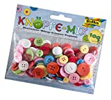 folia 12899 - Knöpfe Mix, ca. 100 g, farbig sortiert