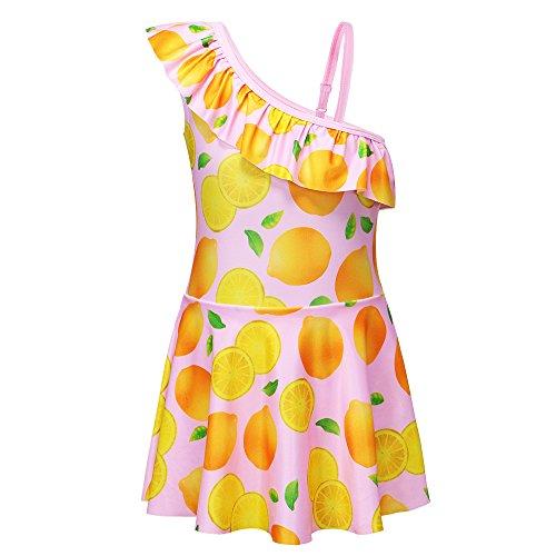 HUANQIUE Badeanzug Schwimmenrock Baby Badeanzug Geeignet für Kinder im Alter von 4-9 Jahren 100/110/120/130/140